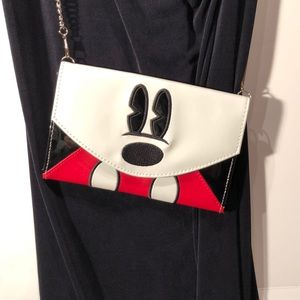 Disney Mickey Mouse Envelope Clutch Purse chain